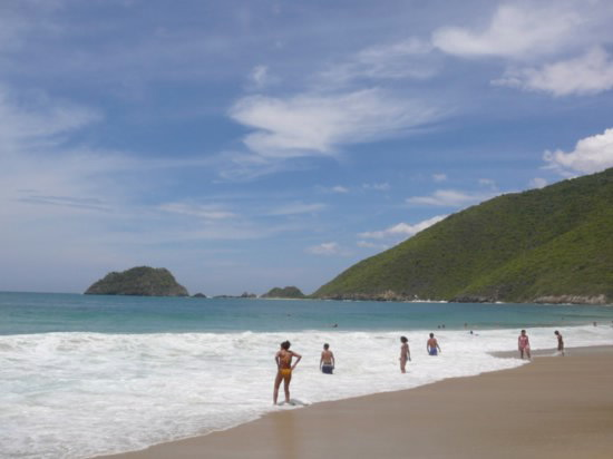 Ocumare de la Costa at Cata beach in Aragua state, one of hundreds of coastline beaches