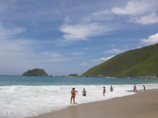 Ocumare de la Costa at Cata beach in Aragua state, one of hundreds of coastline beaches