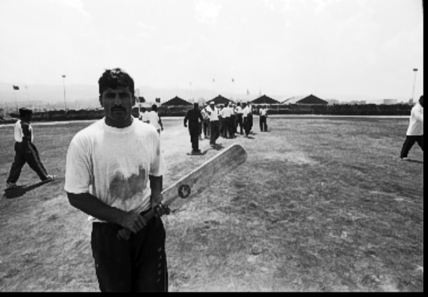 A MONUC financed cricket and football (soccer) field constructed by the Pakistani MONUC brigade near the Bukavu airport, South Kivu. Indian and Pakistani troops regularly hold competitions complete with marching bands. Photo Keith Harmon Snow, 2005.