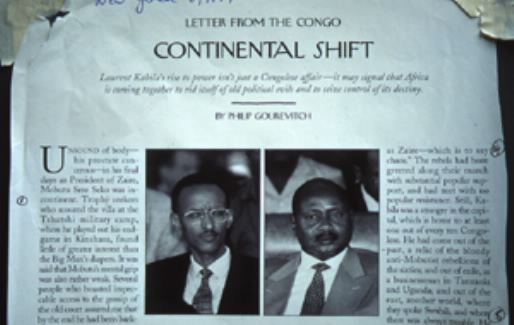 """CONTINENTAL SHIFT,"" one of Philip Gourevitch's pivotal disinformation essays that appeared in the <em>New Yorker</em>, outlined the ""new brand of African leader"" exemplified by Yoweri Museveni and Paul Kagame: it is a whitewash of U.S.-backed terrorism."