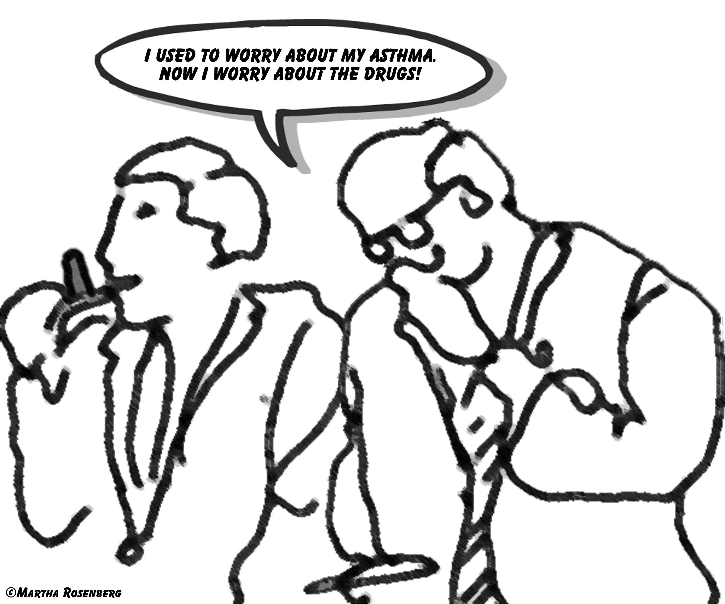 Cartoon Pulmonary Function Test