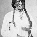 Spotted Elk a.k.a. Heȟáka Glešká [Lakota] or Hoh-pong-ge-le-skah [Cheyenne] who later became known as 'Big Foot' or 'Si Tȟaŋka' in a 1872 portrait taken while part of a Dakota delegation visiting Washington D.C. US National Archives and Records Administration Photo Citation # 111-SC-87772.