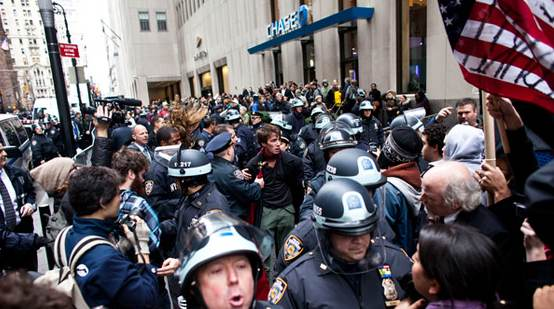 NYPD cops became Wall Street's private army during the Occupy Wall Street campaign, even            getting paid by the banks on the side.