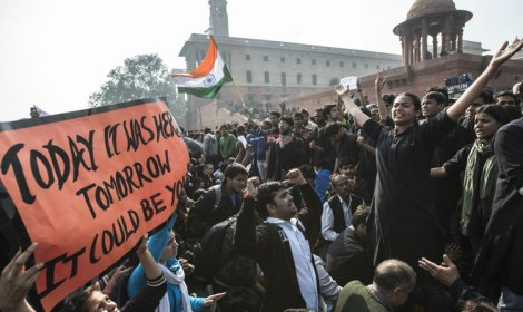 Protests Against the Delhi Gang-rape Incident in India