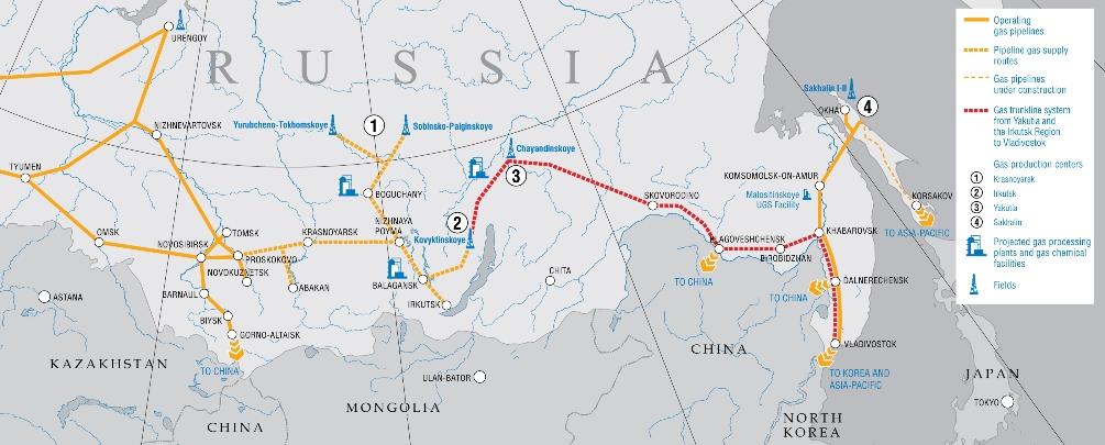 Map_East - source - Gazprom.com