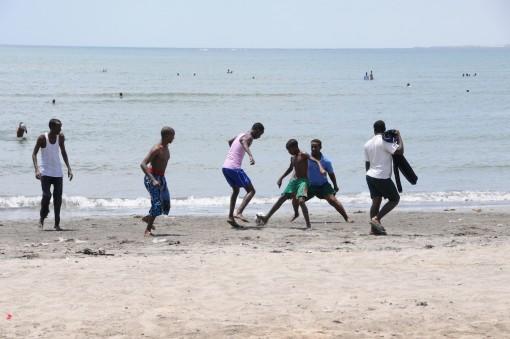 Beach games.