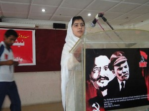 Malala at a Marxist school in Swat Valley