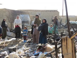 Refugees in the Chaman e Babrak camp