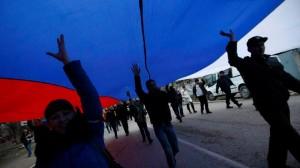 russian flag demo