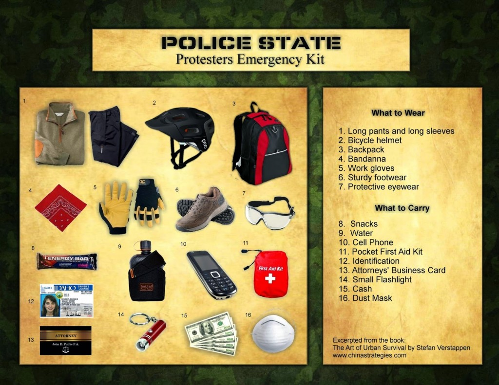 protest+emergency+kit
