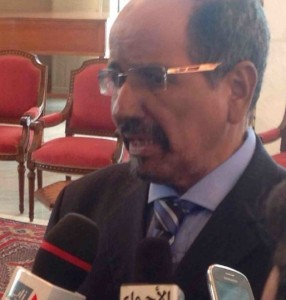 Mohammed Abdelaziz, president of the Western Sahara, and head of movement engaged in Africa's last anti-colonial struggle (photo by Linn Washington)