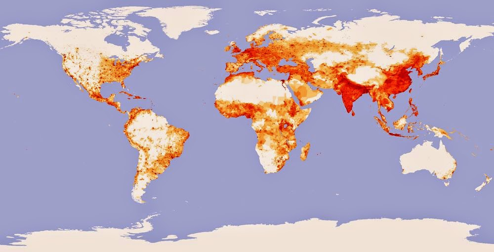 Population World Map 2014 World Population Density Map
