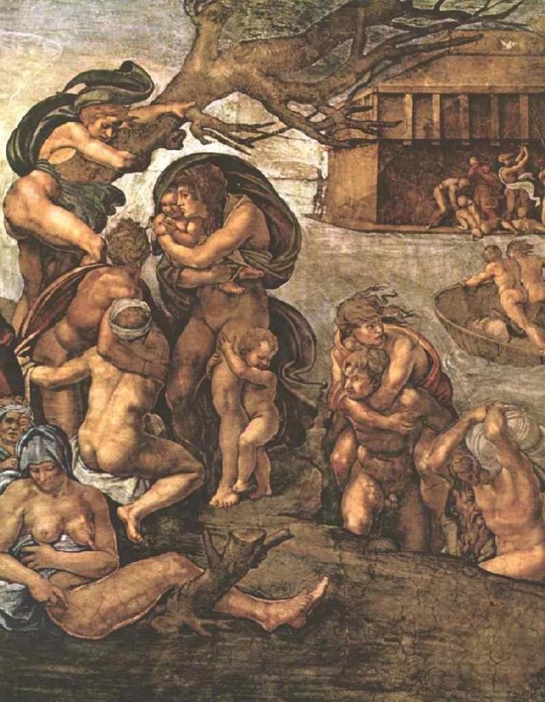 """Michelangelo, """"The Deluge,"""" 1509"""
