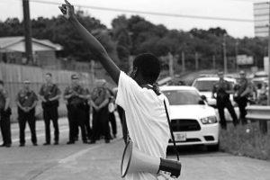 Joshua Williams at Ferguson protest, 10 Sept 2014.