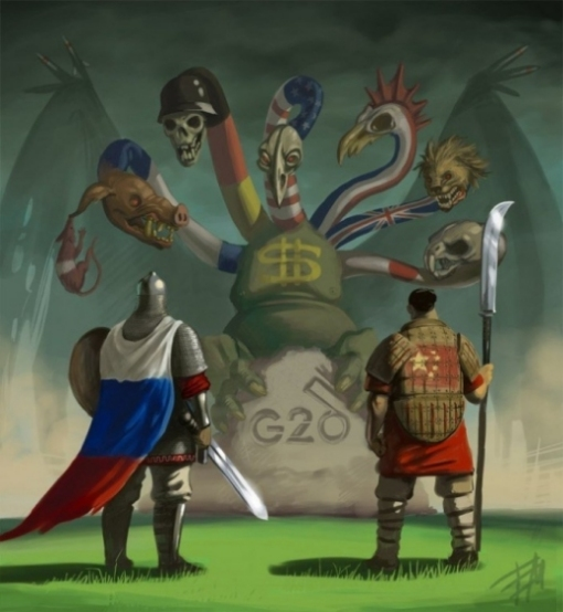 """""""China and Russia have their work cut out for them, fighting for their countries, peoples, ways of life, and indirectly, for humanity's 99% and the survival of our Pale Blue Dot. This, against the onslaught of Western racism, capitalism, colonialism, imperialism, false flags, war, subterfuge and fascism."""" -- Jeff Brown (Image)"""